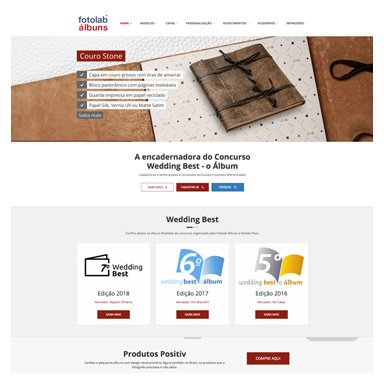 Website Fotolab Álbuns